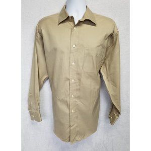Joseph & Feiss Men's Button Down Shirt Brown Large